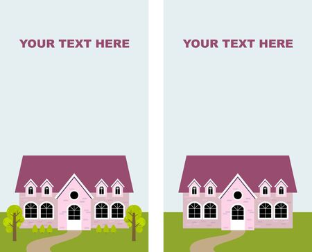 pink cottage Stock Vector - 8798532
