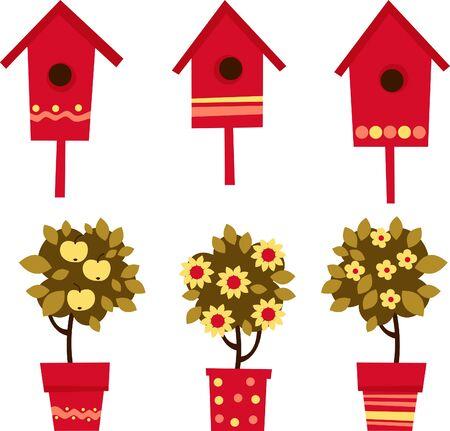 kwiaty w więcierzy i Budki dla ptaków