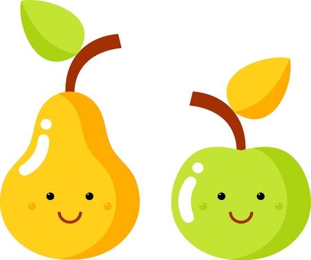 manzana y la pera