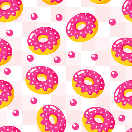 gingham: background of donuts