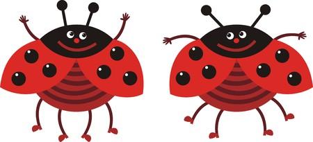 shoe shine: ladybug Illustration