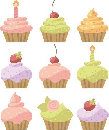 baby cupcake: cake Illustration
