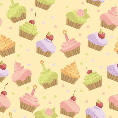 background of the cake Vector