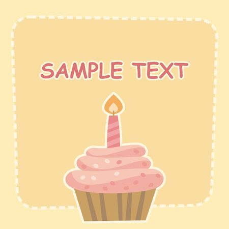 cake with cream Vector