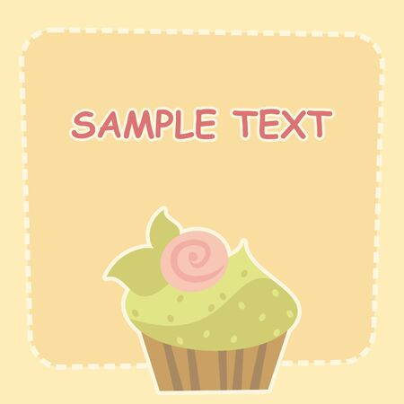 cake with cream Stock Vector - 8828913