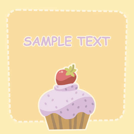 cake with strawberries Stock Vector - 8828918