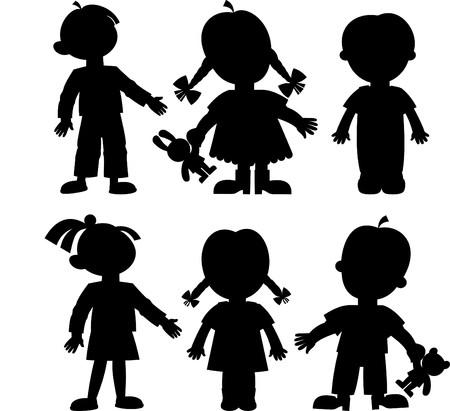 niño y niña: los niños Vectores
