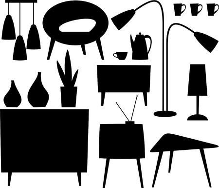 muebles de madera: muebles Vectores