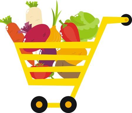 canasta de frutas: verduras
