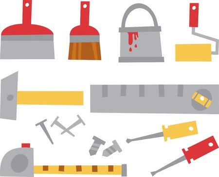 adjuster: tools for repair Illustration