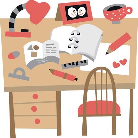 writing pad: desk