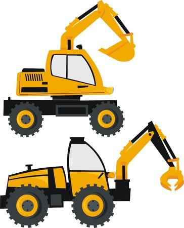sandpit: excavadora y cargador