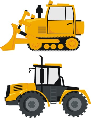 tractor and loader Stock Vector - 8976706
