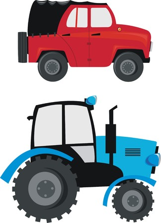 transport to the farmer Vector