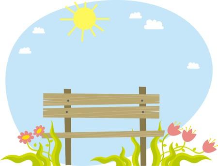 Bench  イラスト・ベクター素材