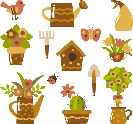 watering: Tuin clip-art Stock Illustratie
