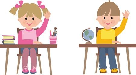 schulklasse: Kinder in der Schule Illustration
