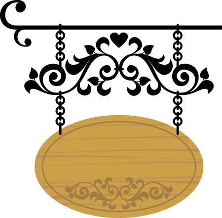 wooden signboard Stock Vector - 9402122