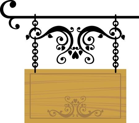 letreros: panel de se�al de madera Vectores