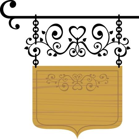 cork board: wooden signboard