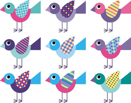 birdie: uccelli Vettoriali