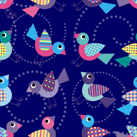 background with birds Vector