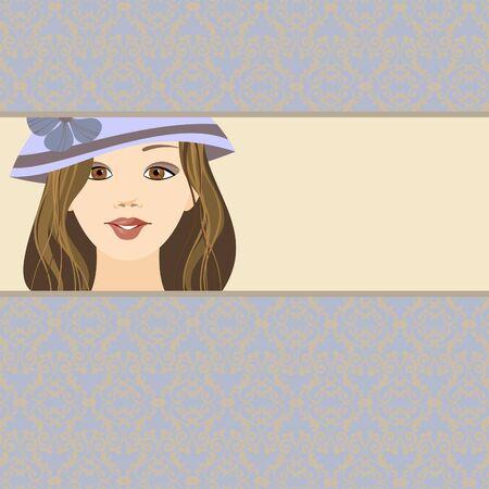 girl in the hat Vector
