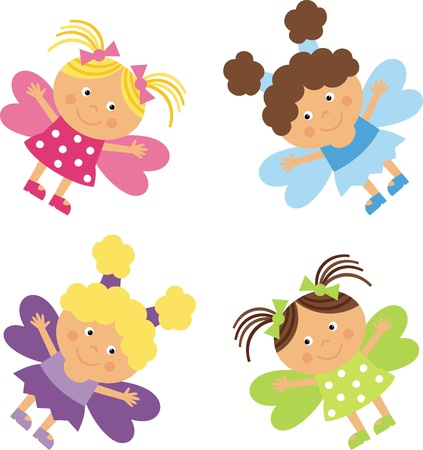 girls fairy Stock Vector - 9579247