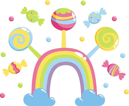 sweet rainbow Stock Vector - 9579254