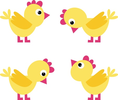 chickens Stock Vector - 9579249