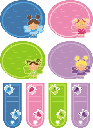 tag with the fairies Vector