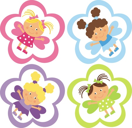 tag with the fairies Illustration