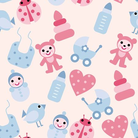 background with toys Vector