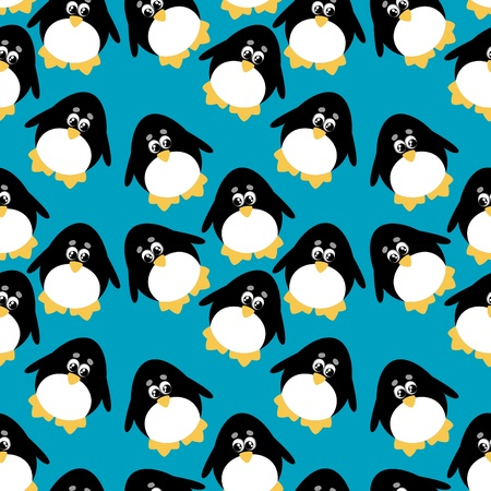 penguin background  Vector