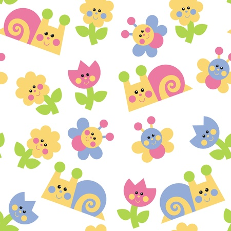 cute clipart: Wallpapers for a childs room