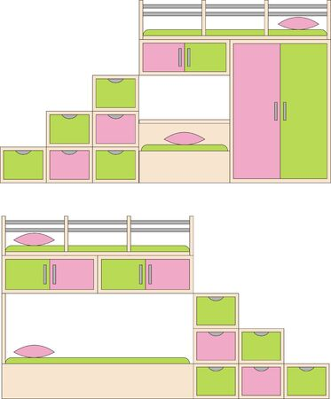 Sofa bed for a childs room Vector