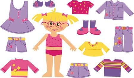 t shirt blouse: Children fashion store  Illustration