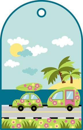 sea mark: Summer label camping