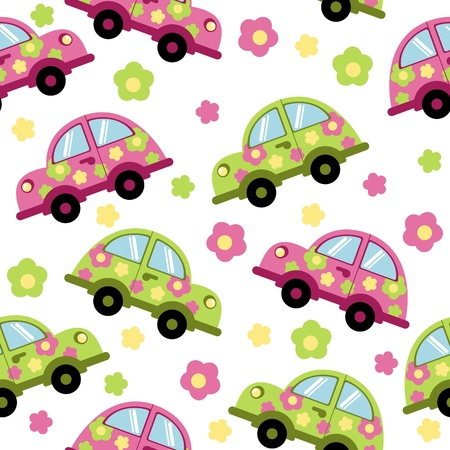 summer background with cars