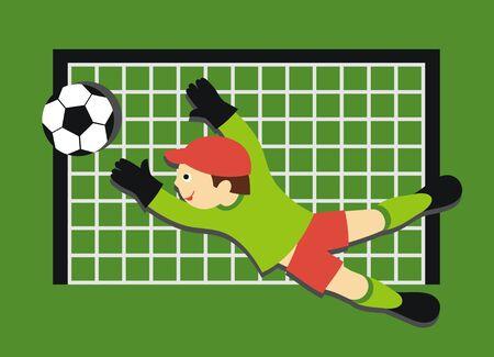 portero: Fútbol Vectores
