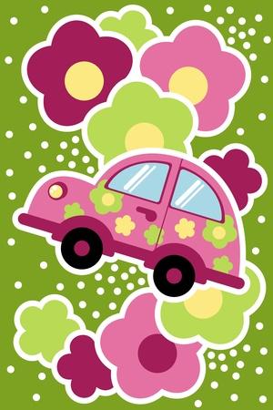 summer tires: coche en los colores
