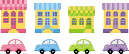 house and car  Vector