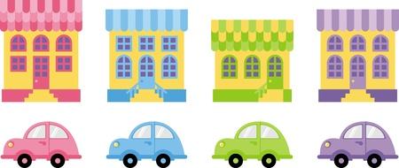 house and car  Vector