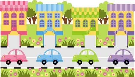 toy shop: Country life  Illustration