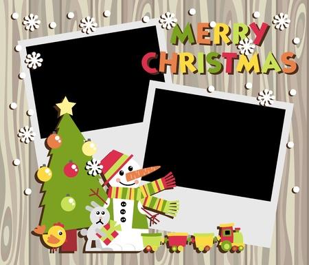 Christmas Scrapbooking Vector
