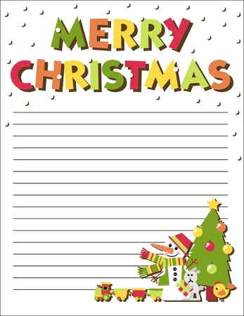 Form letters to Santa Claus with an illustration Vector