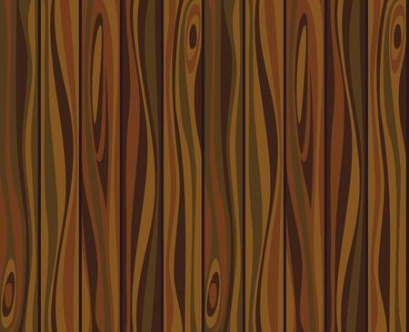 seamless texture of old wooden planks brown Vector