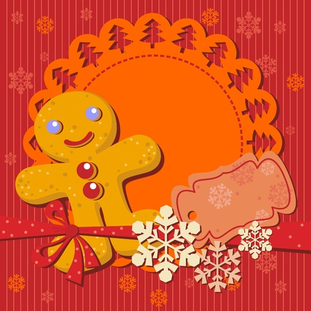 Christmas cookie recipe for party invitation Vector
