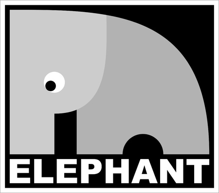 the image of the Indian elephant Vector