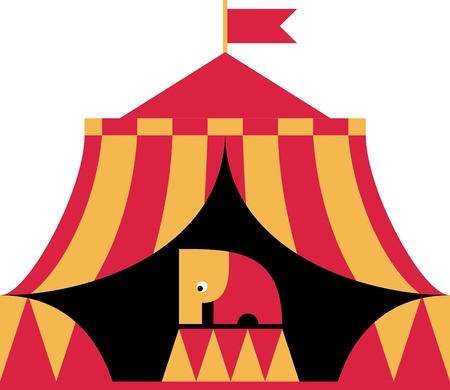 cirque: The circus elephant stands Illustration